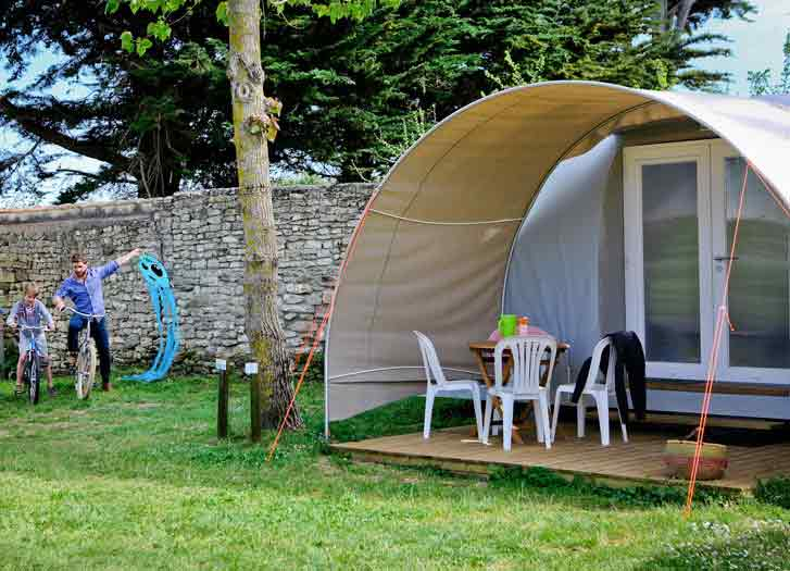 mobil-homes sur l'ile de re