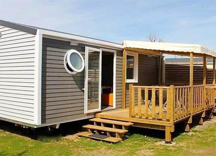 camping luxe ile de r vacances mobil home premium luxe. Black Bedroom Furniture Sets. Home Design Ideas