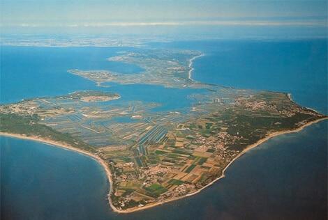 vue aérienne de l'ile de ré