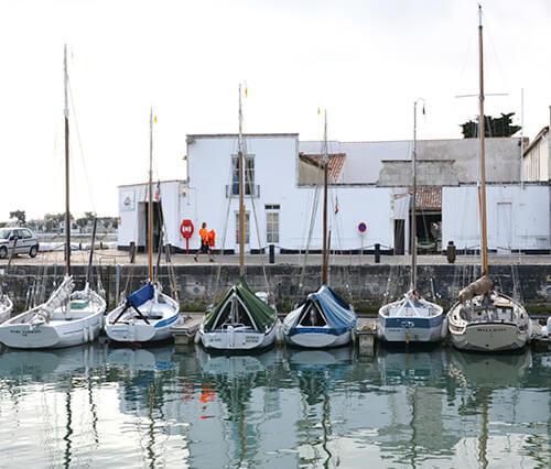 Vieux gréement au port de l'île de Ré