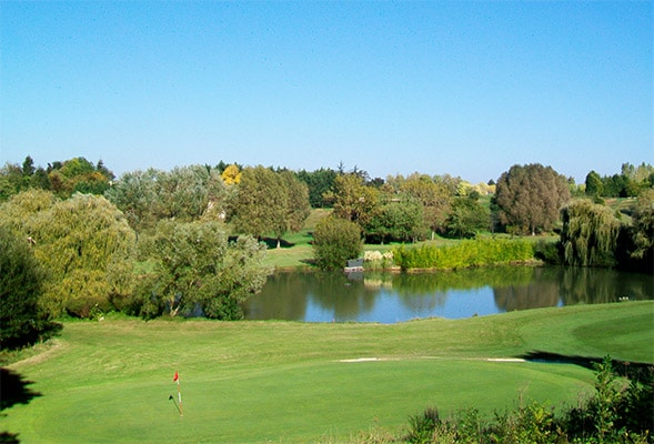 golf course around the lake