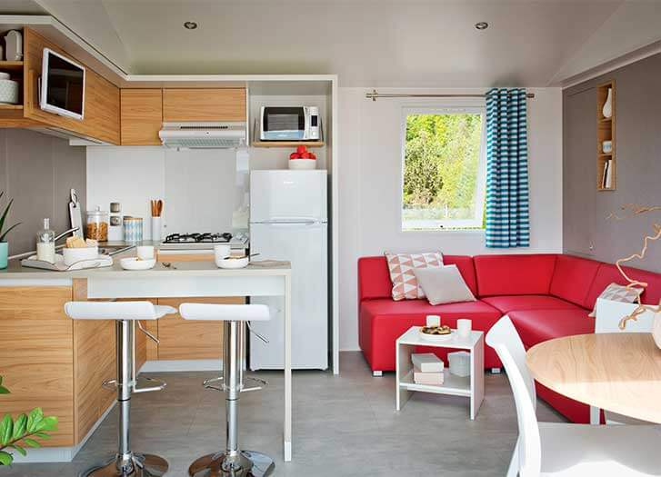 location mobil home luxe ile re