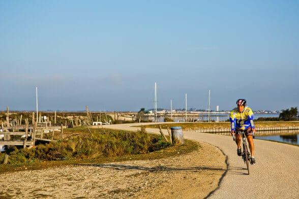 Vélo sur l'ile de ré depuis le camping