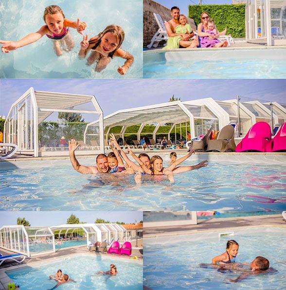 Camping ile de r avec piscine couverte piscine chauff e - Camping dordogne avec piscine et lac ...
